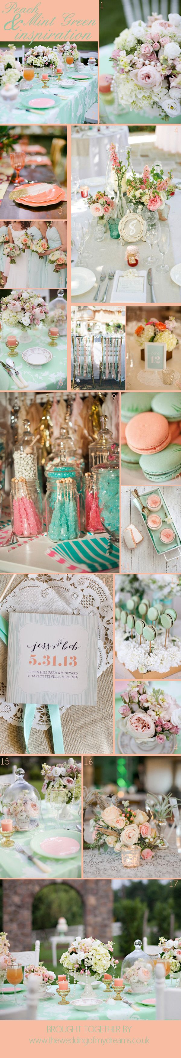 MINT GREEN AND PEACH WEDDING INSPIRATION