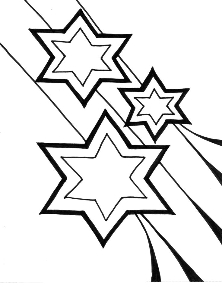 Coloring Christmas Star For Kids