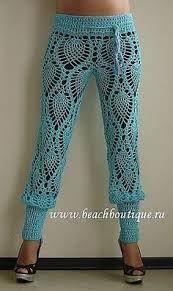 sexy pineapple crochet pants