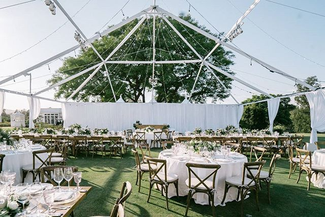 The Open Air Tent Helped Elevate This Reception Space