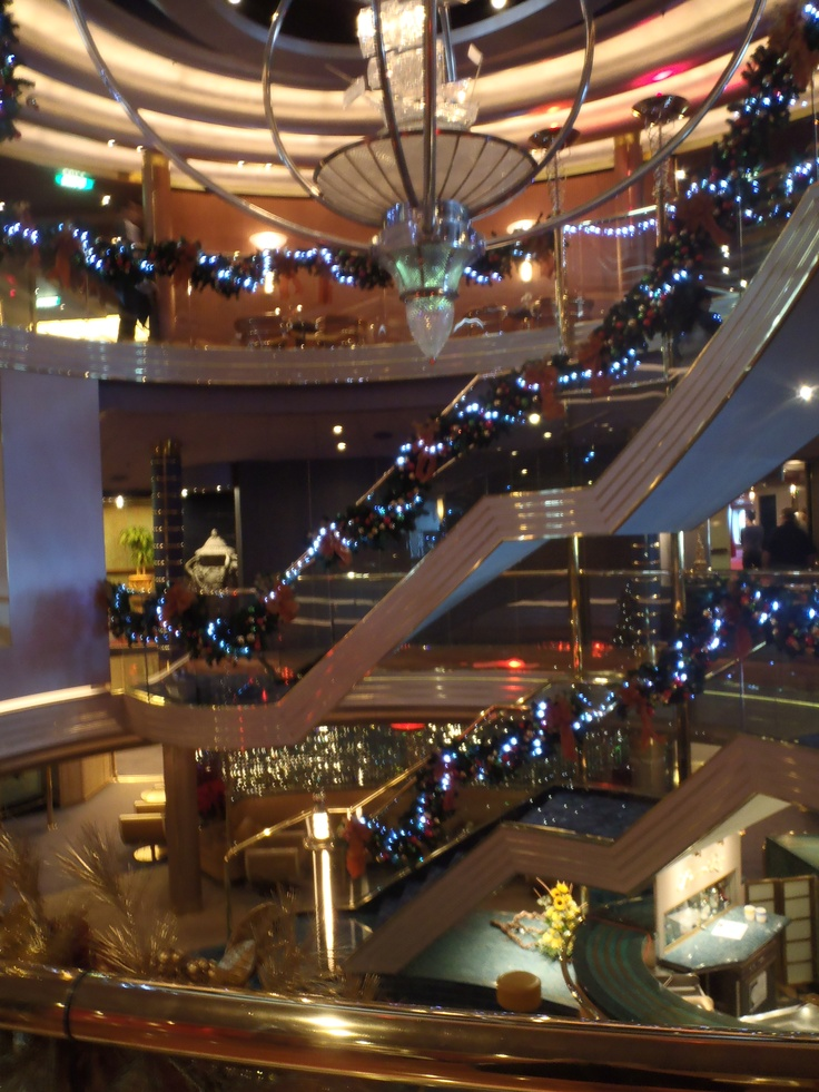 Holiday Cruise Christmas Decor - Holland America = Ask a Holland America expert about their incredible Christmas and New Years Holiday sailings - Call today to Wendy @ Cruise Planners of Cape Cod - direct to 888-802-0750 or email @ wcushing@cruiseplanners.com