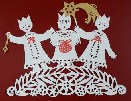 Stránky pro tvořivé - malé i velké - Fotoalbum - Zima - Tři králové - Tři králové - vystřihovánka (Vláďa)