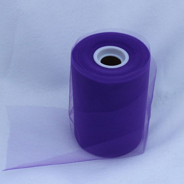 Tulle Roll -Purple tulle roll - 6 inches - 100 yard - $4.50