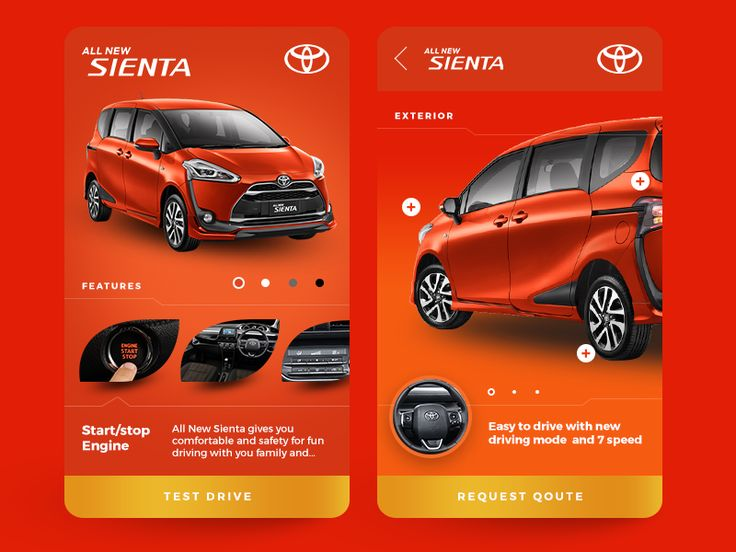 Toyota Sienta - App Concept by Helloxandro