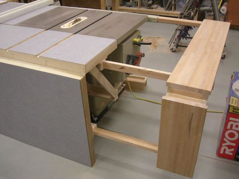 table saw bench plans | Folding; Sliding; Table Saw Extension Wing - by screwge @ LumberJocks ...