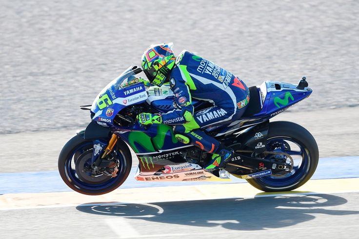 MotoGP: Valentino Rossi na frente dos testes de Valência