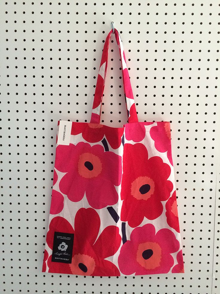 "#Marimekko ""Unikko"" poppy print celebrates it's 50th anniversary! Tote bag giveaway and more on the Spring 2014 collection via happymundane.com"