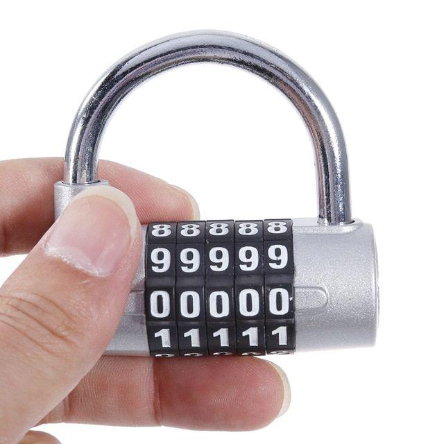 Combination Padlock 5 Numeric Password Lock Door Locks Suitcase
