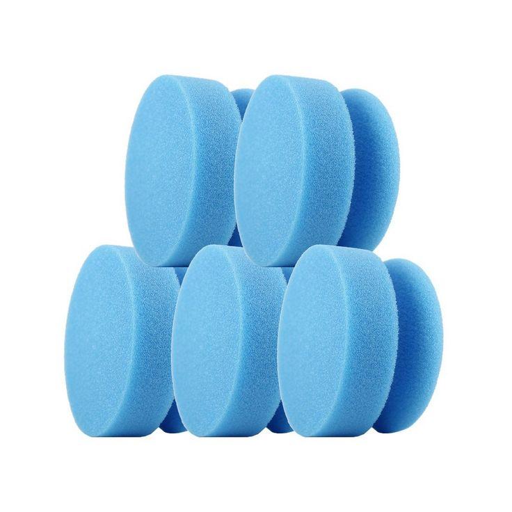 CLEANPRODUCTS Lackmaus BLAU-medium - 5 Stück  Praktisches Hand-Polierpad / Polierschwamm / Reinigungsschwamm / Applikationsschwamm aus hochwertigem Schaumstoff. Ermöglicht punktuelles Polieren und Reinigen von Fahrzeug-Oberflächen von Hand. Grobe, schleifende / abrasive Schaumstoffstruktur für Oberflächen. Zum Entfernen von tieferen Kratzern auf Lack-Oberflächen und starken Verschmutzungen.