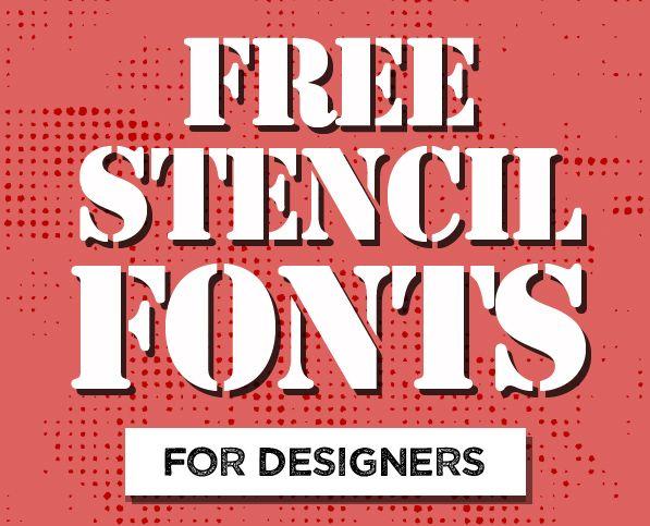 16 Best Free Stencil Fonts for Designers #freefonts #stencilfonts #bestfonts…