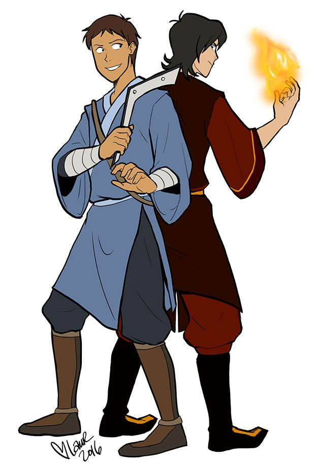 Lance as Space Sokka and Keith as Zuko in Avatar Airbender style from Voltron Legendary Defender