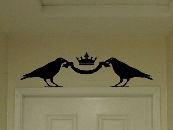Add some elegance to a window or door : The+Majesty+of+Crows++Wall+Decal+by+seanhexed+on+Etsy