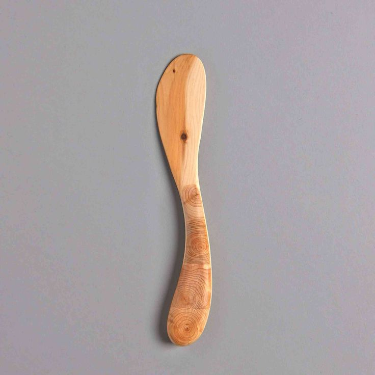 SWEDISH WOODEN BUTTER KNIFE INTARSIA HANDLE