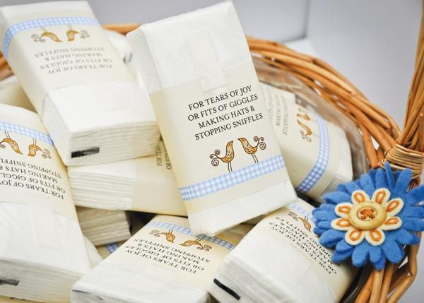 Customised Wedding Tissues
