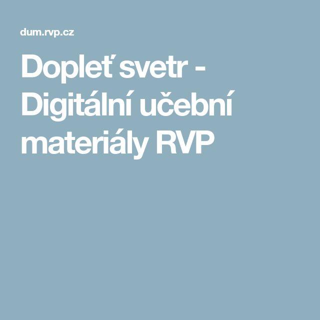 Dopleť svetr - Digitální učební materiály RVP