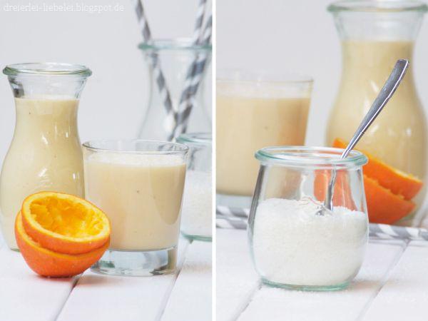 Dreierlei Liebelei: Vitamin-Kick am Morgen vertreibt Kummer und Sorgen {Kokos-Vitamin-Smoothie}