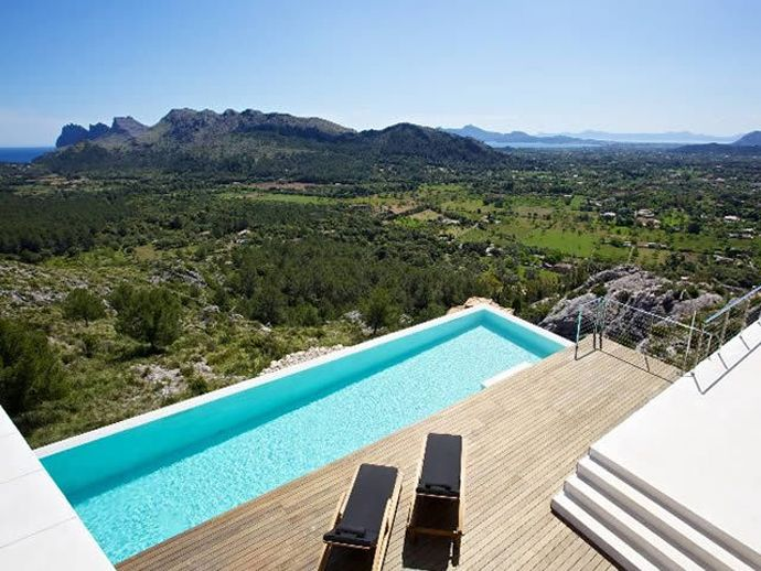 The pool contrasting with the desert is obviously a favorite part of this home for us. Casa 115 : Splendid Residence with Rocky Surroundings and Panoramic Views    @Design Rulz