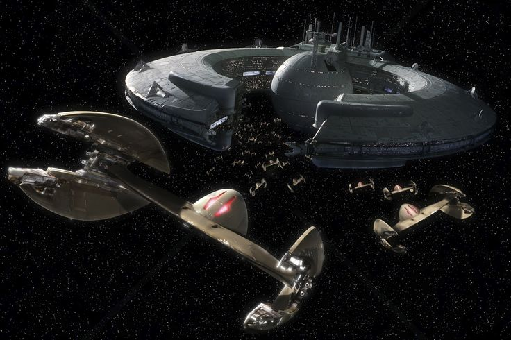 Star Wars - Trade Federation Droid Control Ship - Wall Mural & Photo Wallpaper - Photowall