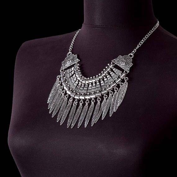 Tribal jewelry Ethnic necklace Tribal Necklace Bohemian