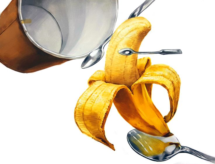 기초디자인 바나나, 티스푼, 종이컵