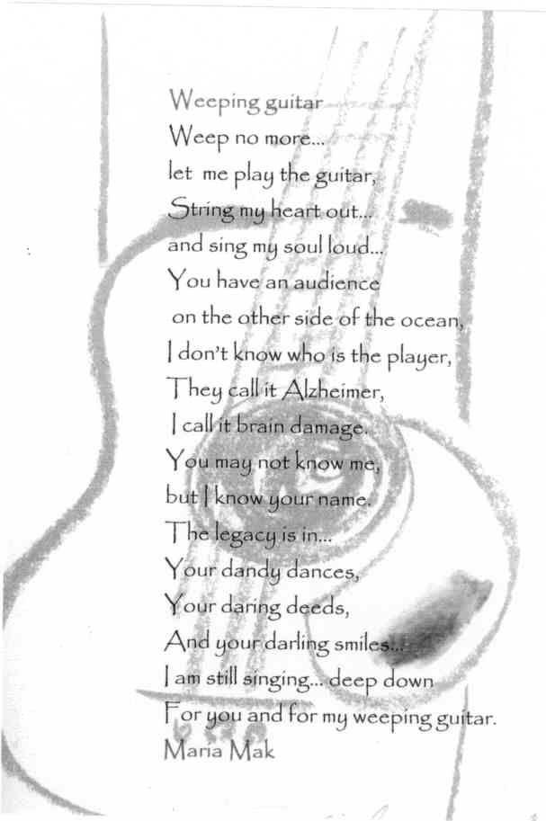My weeping guitar