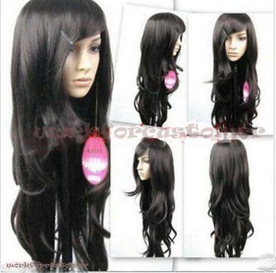 Kanekalon парик волос потому Harajuku длинные ветер волнистые черные волосы > ну вечеринку cosplays жаропрочных бесплатная доставка
