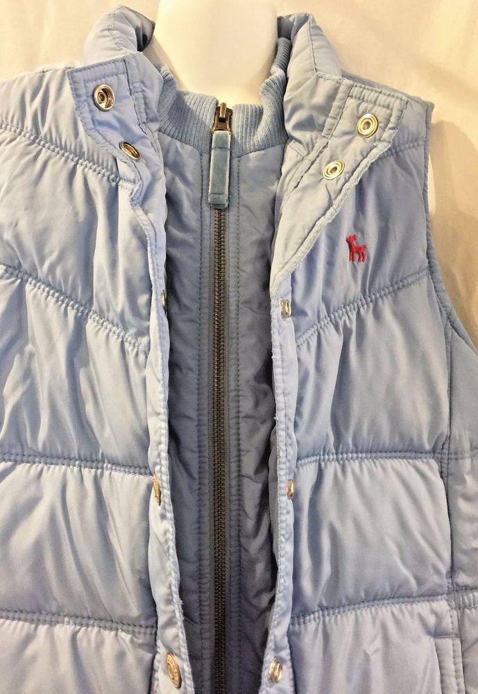 Old Navy Warm Winter Puffer Vest Cozy Fleece Lining Powder Blue Girls XL 14 #OldNavy #Vest