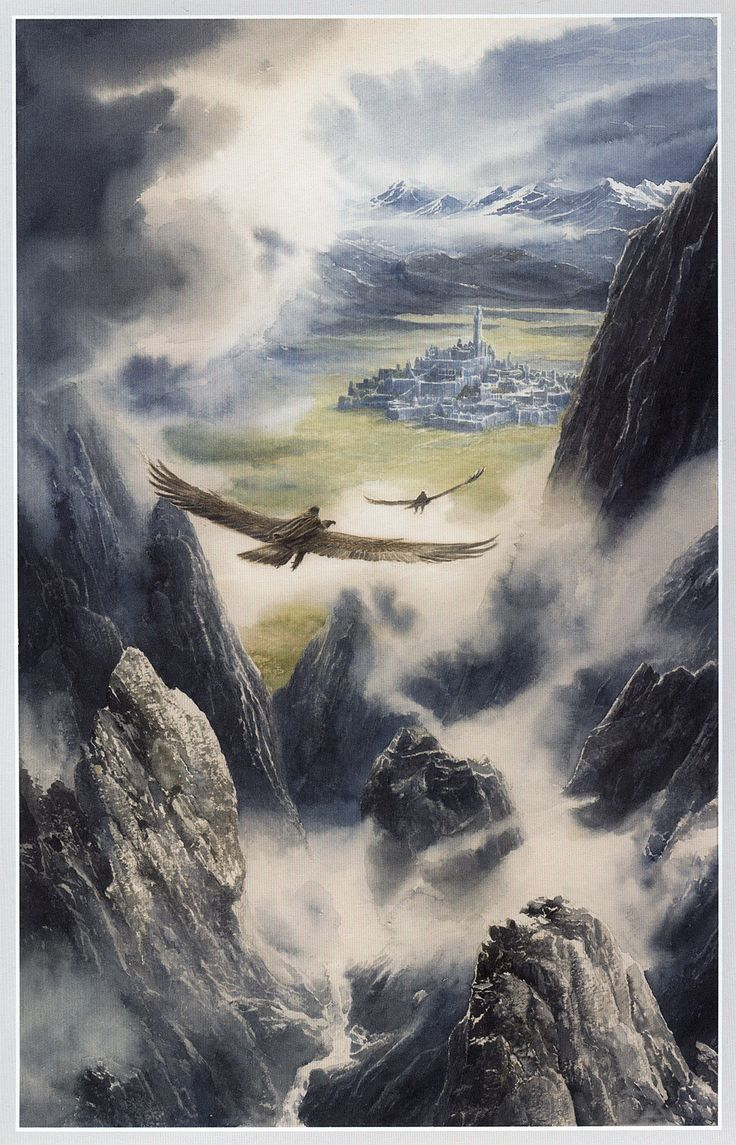 Hurin and Huor are Carried to Gondolin by Alan Lee                                                                                                                                                     Mehr