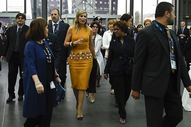 MyRoyals:  Queen Maxima attended the opening day of the Global Forum on Remittance Development 2015, Rho, Italy, June 16, 2015