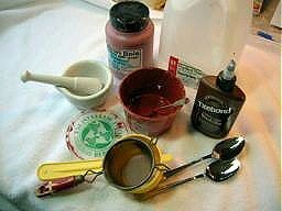 Supply list and sources for egg tempera painting