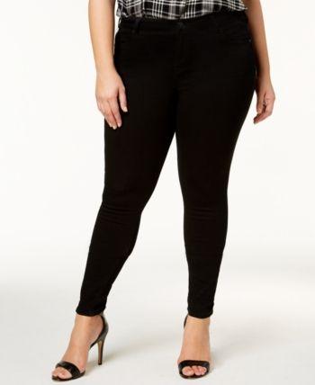 Celebrity Pink Trendy Plus Size Infinite Stretch Dawson Super-Skinny Jeans - Blue 14W 1