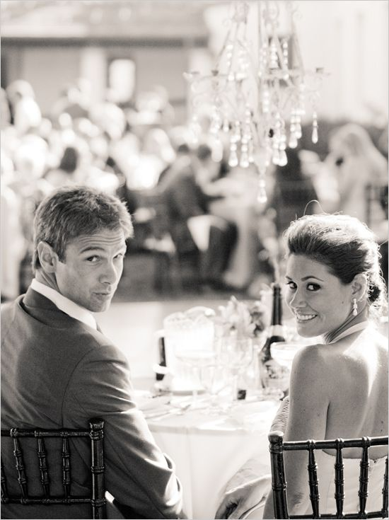 Couple at the reception