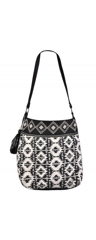 Lily Boutique Black and Ivory Aztec Beaded Everyday Purse, $60 Aztec Pattern Purse, Cute Aztec Purse, Black and White Geometric Beaded Purse www.lilyboutique.com