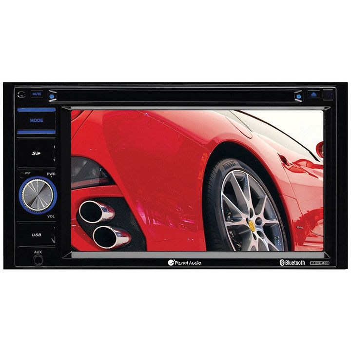 "Planet Audio 6.2"" D.Din with DVD/BT & Wireless Backup Camera"