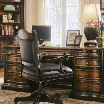Hooker Furniture Hooker Furniture Preston Ridge Parquet Top Executive Desk  By Hooker Furniture. $3264.80.