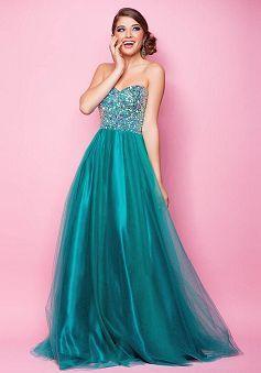 Sweetheart Tulle Natural Waist Floor Length A line Dresses For Prom - 1300104599B - US$139.99 - BellasDress