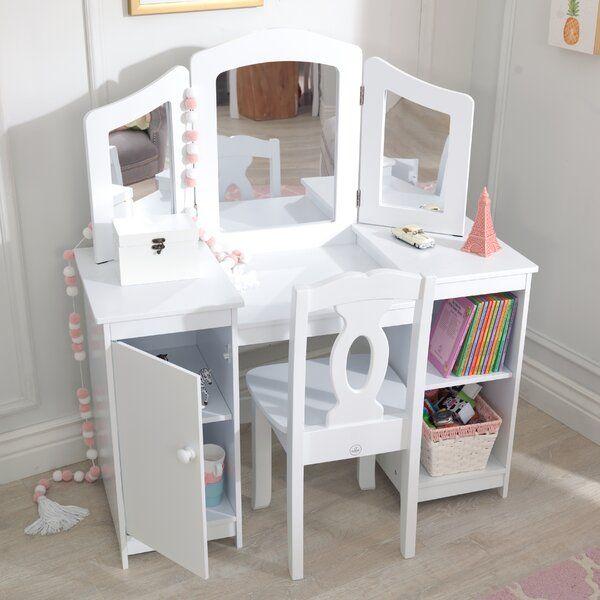 Deluxe 2 Piece Vanity Set With Mirror In 2020 Bedroom Vanity Set