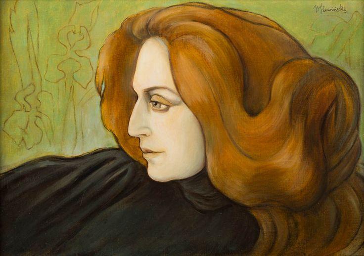 Wladyslaw Slewinski (1856-1918), Portret Kobiety z rudymi Wlosami - 1897/1900