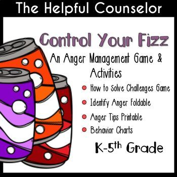 Anger management is a vital skill for our students. Many kids are overpowered by intense emotions and need to be taught how to respond when they are frustrated. I've had a lot of success teaching my students anger management strategies through games and activities based off of picture books. The activities in this packet were developed for classroom guidance and small group lessons while using Julia Cook's fabulous Soda Pop Head!