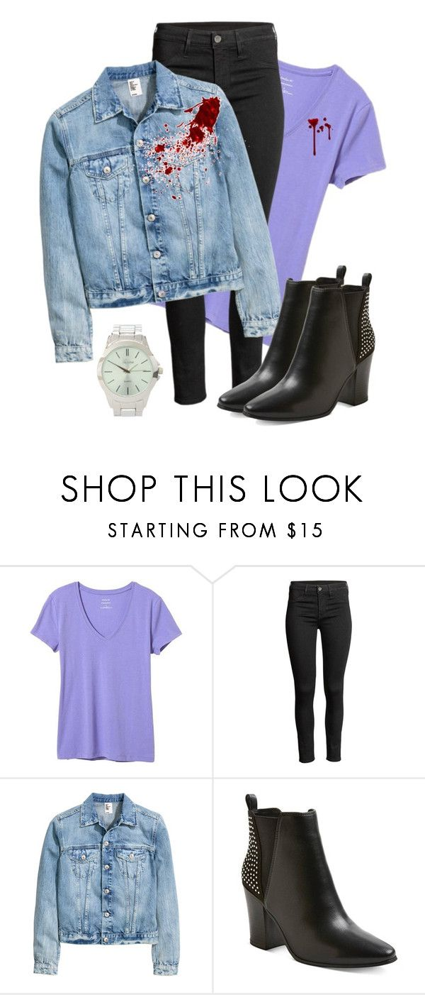 """""""Sidney Prescott"""" by peasoupprincess ❤ liked on Polyvore featuring Banana Republic, Charlotte Russe, Halloween, horror, scream, NeveCampbell and SidneyPrescott"""