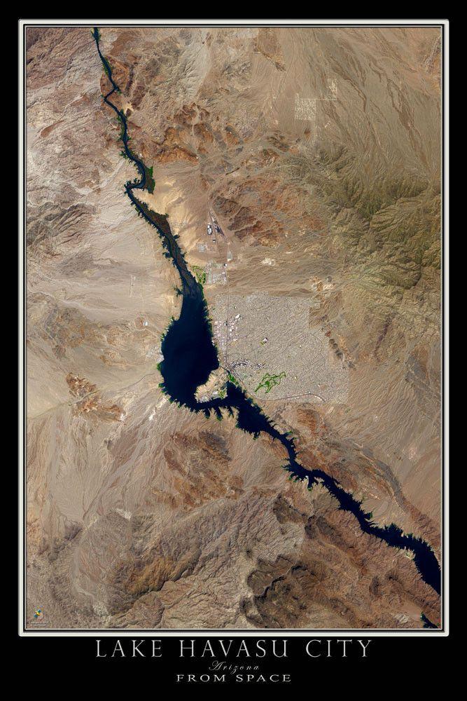Lake Havasu City Arizona Satellite Poster Map