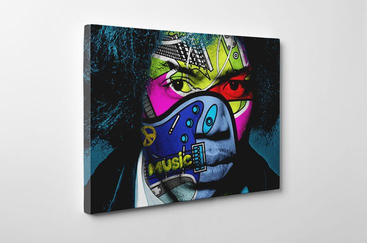 Jimi Hendrix Pop Art  #canvas #hendrix #newpop #popart #guitar #original