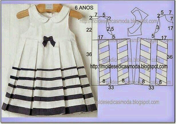 709 besten vestidos de niña Bilder auf Pinterest   Schnittmuster ...