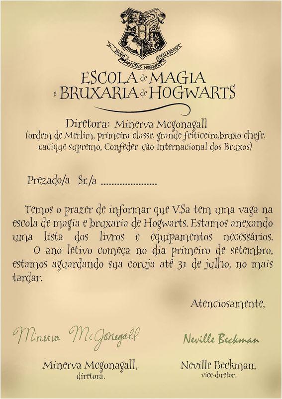 Carta de Hogwarts!!