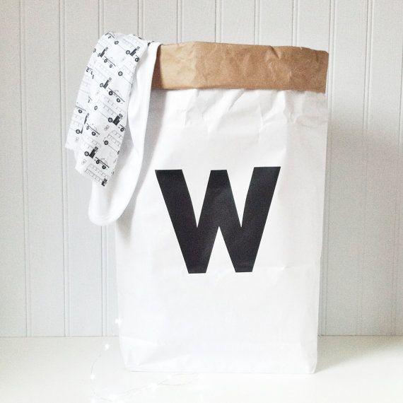 rangement jouet rangement de sac de papier par byebyebirdieengland