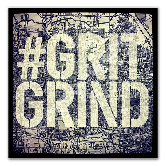 Memphis Grizzlies fan art GRITGRIND 5x5 digital print - Memphis map typography