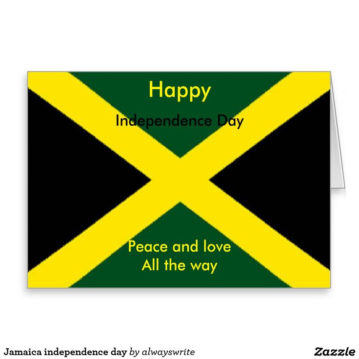 Jamaica independence day greeting card