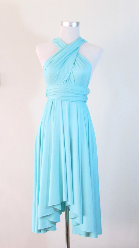 Summer Day Dress Convertible Dress In Tiffany Blue Infinity Dress Multiway Dress Wrap Dress
