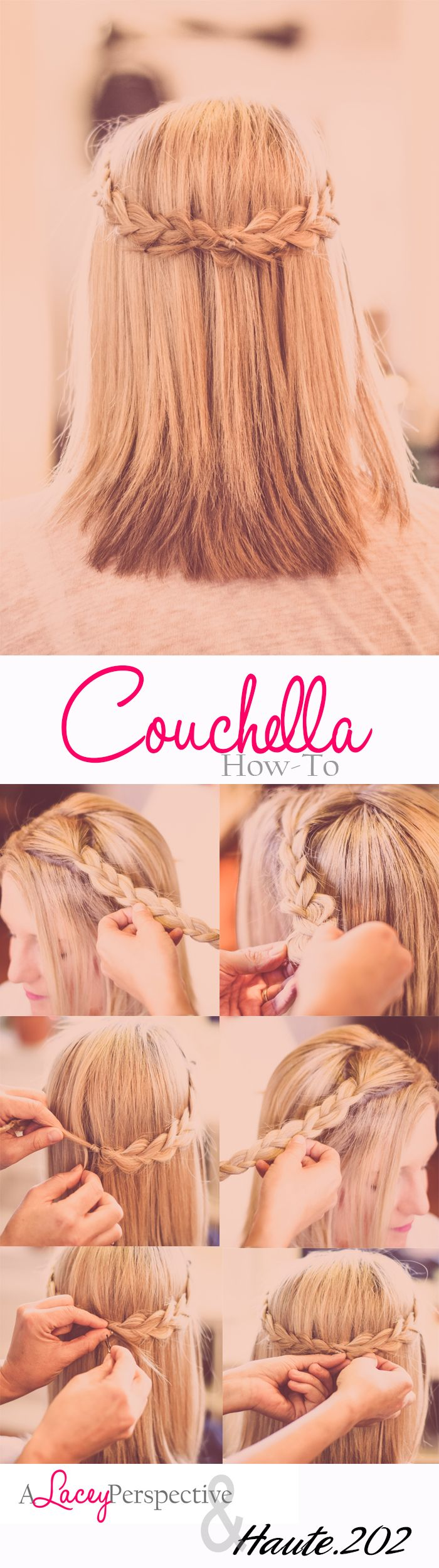 Sitting on your coach instead of being at Coachella? Then you need this Couchella hair how to...