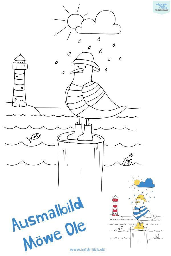 Ausmalbild Vogel Mowe Ole Icedrake Blog Ausmalen Ausmalbilder Vogel Ausmalbilder Kinder